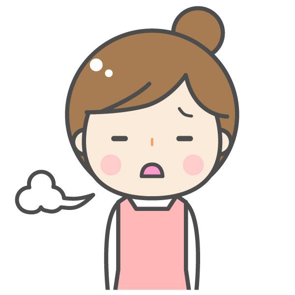 偏頭痛で困った女性